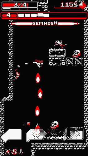 Screenshots of the Downwell game for iPhone, iPad or iPod.