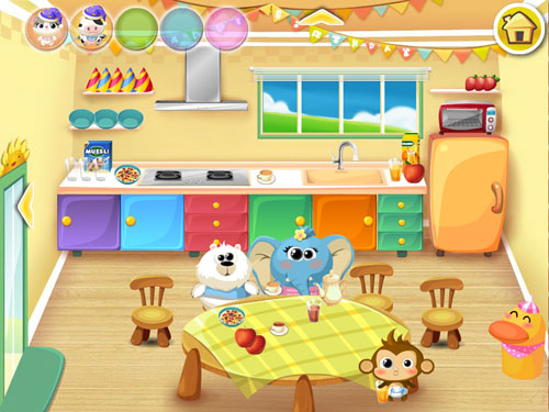 Screenshots of the Dr. Panda's daycare game for iPhone, iPad or iPod.