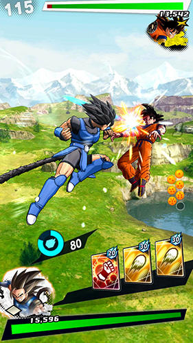 Screenshots of the Dragon ball: Legends game for iPhone, iPad or iPod.