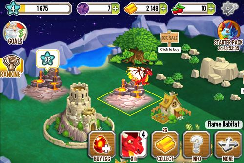 Écrans du jeu Dragon city pour iPhone, iPad ou iPod.