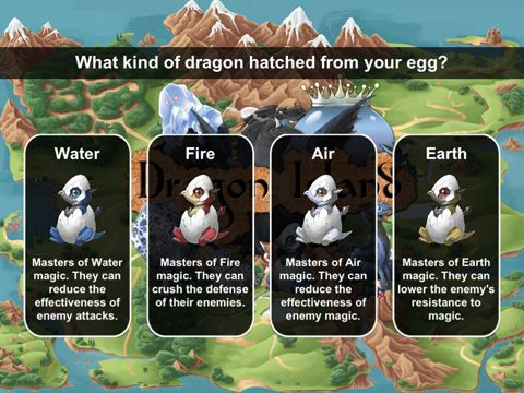 Free Dragon island blue download for iPhone, iPad and iPod.