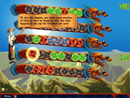 Screenshots of the Dragon portals game for iPhone, iPad or iPod.