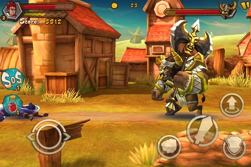Screenshots of the Dragon & warrior game for iPhone, iPad or iPod.