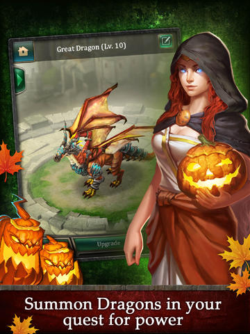 Screenshots of the Dragons of Atlantis: Heirs of the Dragon game for iPhone, iPad or iPod.