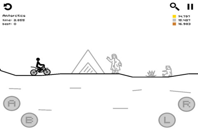 Screenshots of the Draw Rider Plus game for iPhone, iPad or iPod.