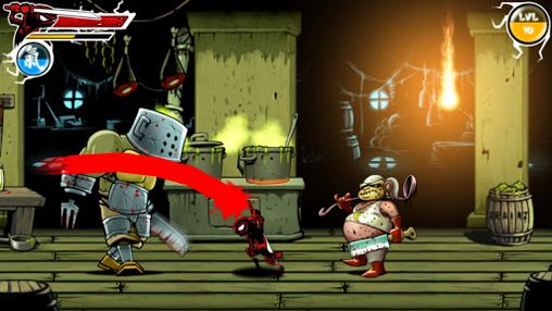 Screenshots of the Draw slasher game for iPhone, iPad or iPod.