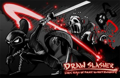 Draw Slasher: Dark Ninja vs Pirate Monkey Zombies