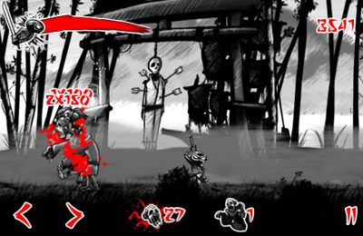 Capturas de pantalla del juego Draw Slasher: Dark Ninja vs Pirate Monkey Zombies para iPhone, iPad o iPod.