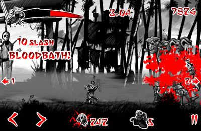 Écrans du jeu Draw Slasher: Dark Ninja vs Pirate Monkey Zombies pour iPhone, iPad ou iPod.