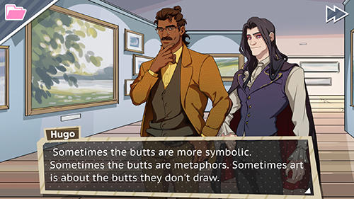 Screenshots vom Spiel Dream daddy für iPhone, iPad oder iPod.