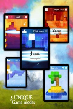 Screenshots of the Dream of Pixels game for iPhone, iPad or iPod.