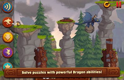 Screenshots vom Spiel DreamWorks Dragons: Tap Dragon Drop für iPhone, iPad oder iPod.