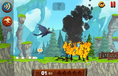 Screenshots of the DreamWorks Dragons: Tap Dragon Drop game for iPhone, iPad or iPod.