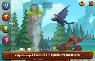 Screenshots do jogo DreamWorks Dragons: Tap Dragon Drop para iPhone, iPad ou iPod.