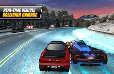 Screenshots of the Drift Mania: Street Outlaws game for iPhone, iPad or iPod.
