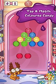 Écrans du jeu Drop That Candy pour iPhone, iPad ou iPod.