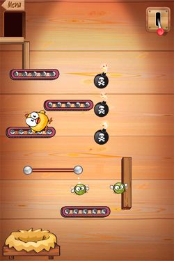 Screenshots vom Spiel Drop The Chicken für iPhone, iPad oder iPod.