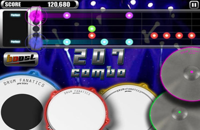 Capturas de pantalla del juego Drum Fanatics para iPhone, iPad o iPod.