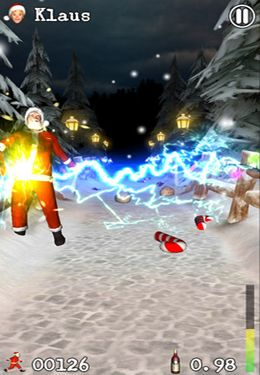 Screenshots of the Drunken Santa Klaus game for iPhone, iPad or iPod.
