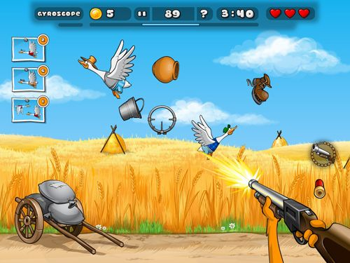Screenshots vom Spiel Duck destroyer für iPhone, iPad oder iPod.