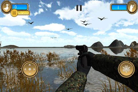 Capturas de pantalla del juego Duck hunter pro 3D para iPhone, iPad o iPod.