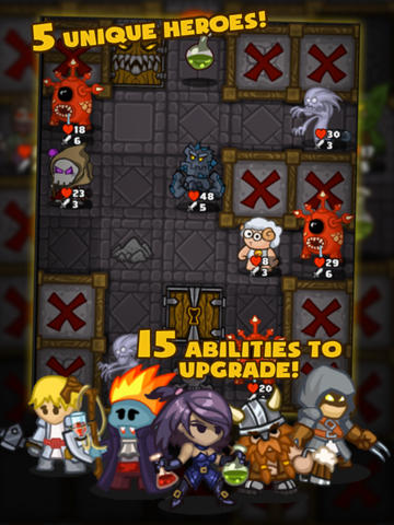 Screenshots of the Dungelot game for iPhone, iPad or iPod.