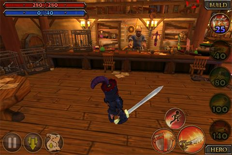 Screenshots vom Spiel Dungeon defenders: Second wave für iPhone, iPad oder iPod.