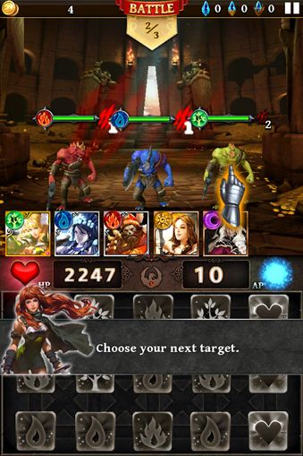 Screenshots of the Dungeon gems game for iPhone, iPad or iPod.