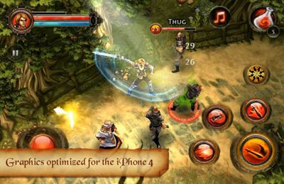 Écrans du jeu Dungeon Hunter 2 pour iPhone, iPad ou iPod.