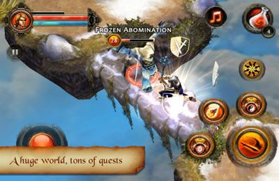 Capturas de pantalla del juego Dungeon Hunter 2 para iPhone, iPad o iPod.