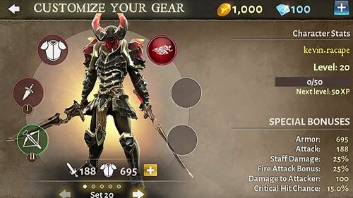 Download Dungeon hunter 5 iPhone free game.