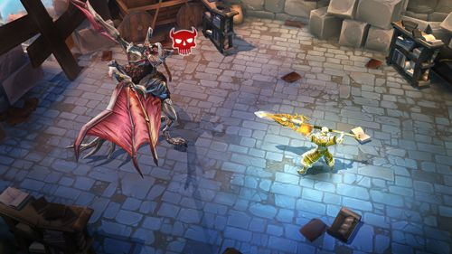 Écrans du jeu Dungeon hunter 5 pour iPhone, iPad ou iPod.