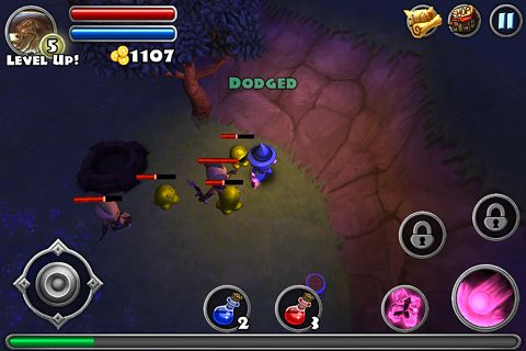 Screenshots of the Dungeon quest game for iPhone, iPad or iPod.