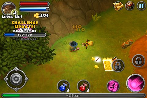Capturas de pantalla del juego Dungeon quest para iPhone, iPad o iPod.