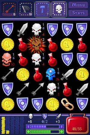 Screenshots of the Dungeon Raid game for iPhone, iPad or iPod.