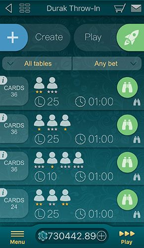 Capturas de pantalla del juego Durak online by Live games para iPhone, iPad o iPod.