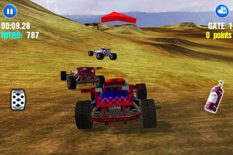 Screenshots of the Dust offroad racing game for iPhone, iPad or iPod.