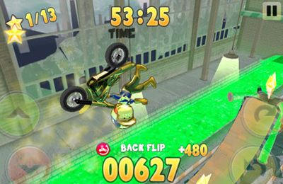 Screenshots of the DynaStunts game for iPhone, iPad or iPod.