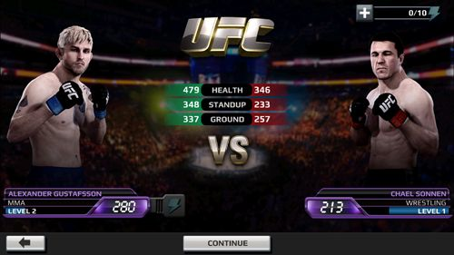 Screenshots of the EA sports: UFC game for iPhone, iPad or iPod.