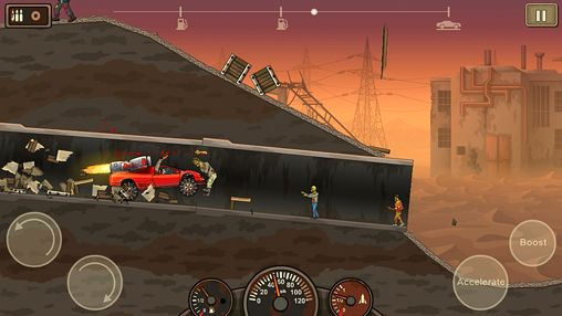 Screenshots of the Earn to die 2 game for iPhone, iPad or iPod.