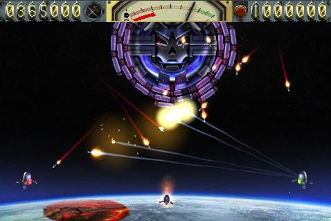Screenshots of the Earth vs. Moon game for iPhone, iPad or iPod.