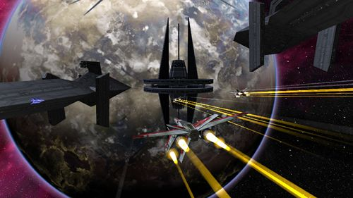 Screenshots vom Spiel Edge of oblivion: Alpha squadron 2 für iPhone, iPad oder iPod.