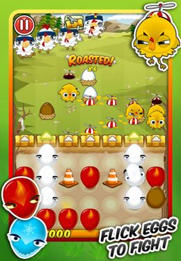 Capturas de pantalla del juego Egg vs. Chicken para iPhone, iPad o iPod.