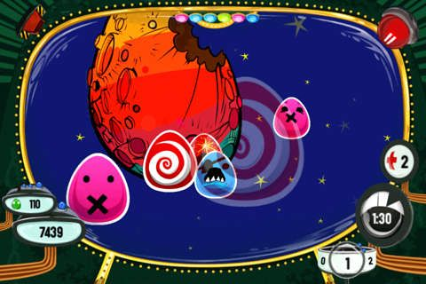 Capturas de pantalla del juego Eggs in space para iPhone, iPad o iPod.