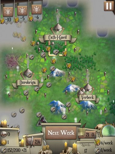 Screenshots of the Empire game for iPhone, iPad or iPod.