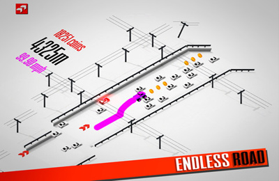 Écrans du jeu Endless Road pour iPhone, iPad ou iPod.