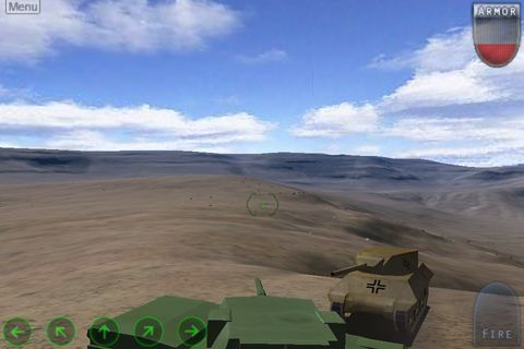 Capturas de pantalla del juego Enemy war: Forgotten tanks para iPhone, iPad o iPod.