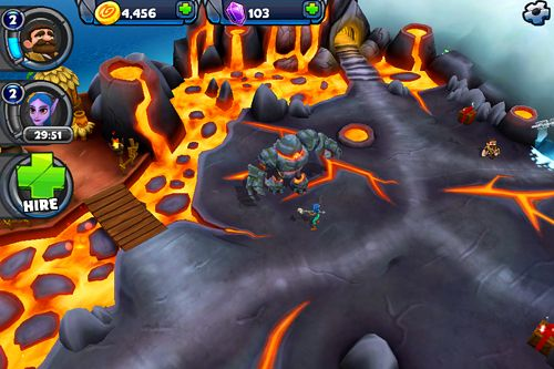 Screenshots of the Epic island game for iPhone, iPad or iPod.