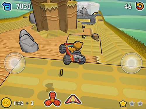 Screenshots of the Escargot kart game for iPhone, iPad or iPod.