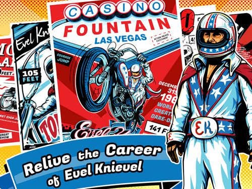 Screenshots of the Evel Knievel game for iPhone, iPad or iPod.